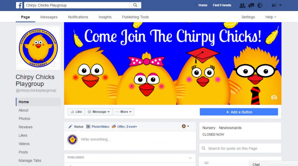 Chirpy Chicks on Facebook