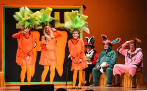 Ditzy carrots Mandy Dudik, Pam Barrett and Cheryll Lundberg audition to represent the ICU at a big conference.