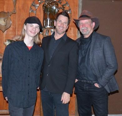 Bryce Barrett and Brian Barrett of the Bosque Gents during a music break with Brett Voss.