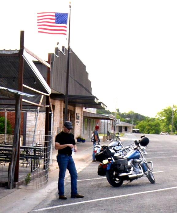 Brett Voss visits his favorite biker stop, the Horny Toad Bar & Grill in Cranfills Gap.