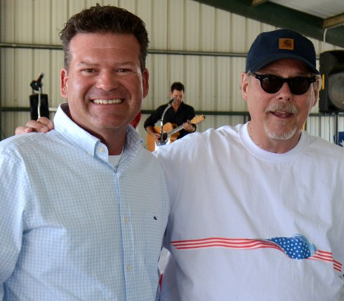 Texas District 58 – Johnson and Bosque County - Representative DeWayne Burns and Rowland Jackson at the Bosque County Republican Club Party in the Park event June 16.