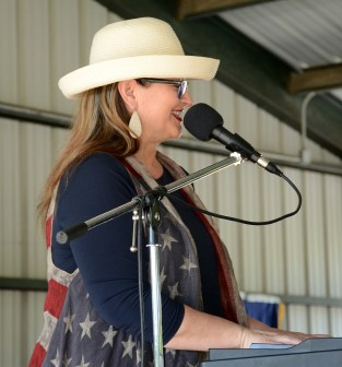 Miriam Wallace performs with The Bosque Gents at the Bosque County Republican Club Party in the Park event June 16.