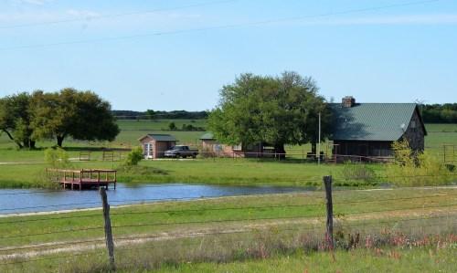 Pastoral views heading north along FM 217.