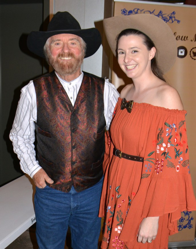 Michael Martin Murphey with 2018 Texas Troubadour Songwriter Classic winner Amy Taylor.