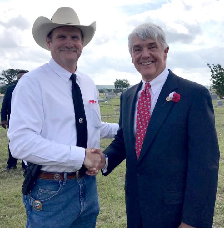 Clint Pullin with U.S. Congressman Roger Williams.