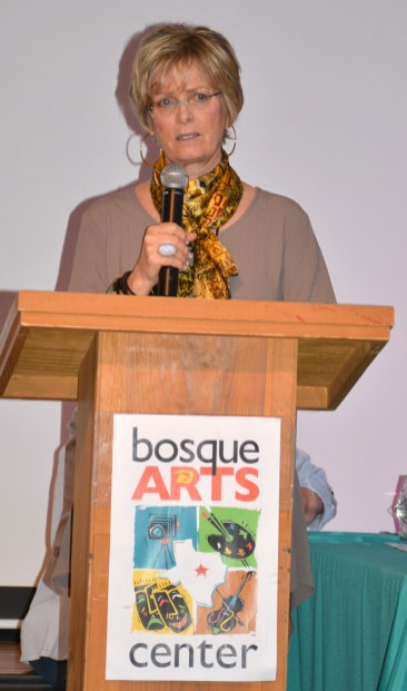 Artist Nancy Boren usually presents the Boren-Selvidge Award at the Bosque Arts Center Art Classic.