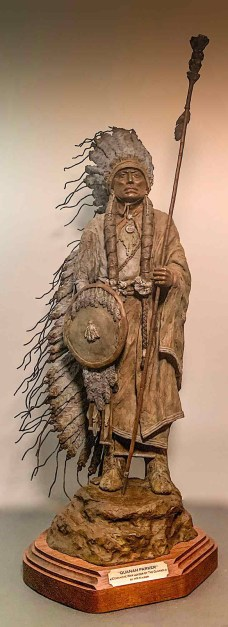 Quanah Parker, Comanche War Leader of the Quahadi by Heather Kaiser is one of the selected art works in the Sculpture division for the 2020 Bosque Arts Center Art Classic.