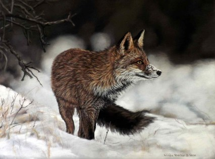 Red Fox by Linda Becker is one of the selected art works in the Pastel division for the 2020 Bosque Arts Center Art Classic.