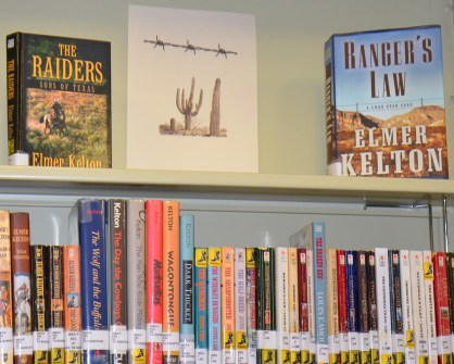 Western books are a popular category at the Meridian Public Library.