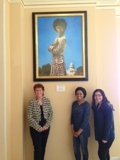 Scp Goes To Congress To View Shirley Chisholm Portrait The Chisholm Project