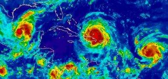 Tres huracanes surgidos en el Atlántico tienen potencial tocar tierra al mismo tiempo
