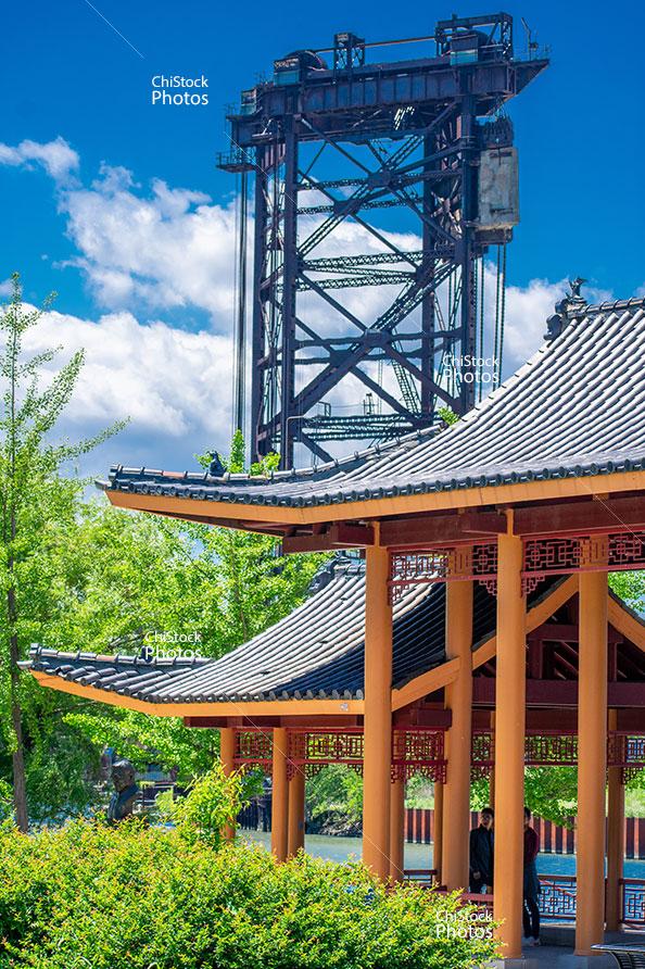 Pennsylvania Railroad Bridge 463 Ping Tom Memorial Park Pagoda