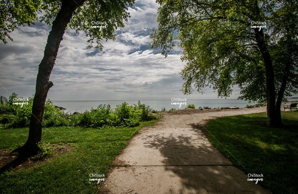 Berger Park on Lake Michigan Edgewater Chicago