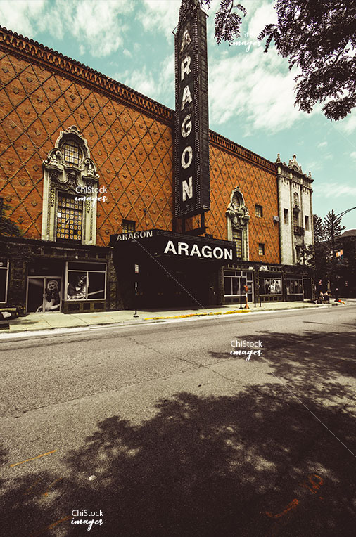 Retro Vibe Aragon Theater on Lawrence in Uptown Chicago
