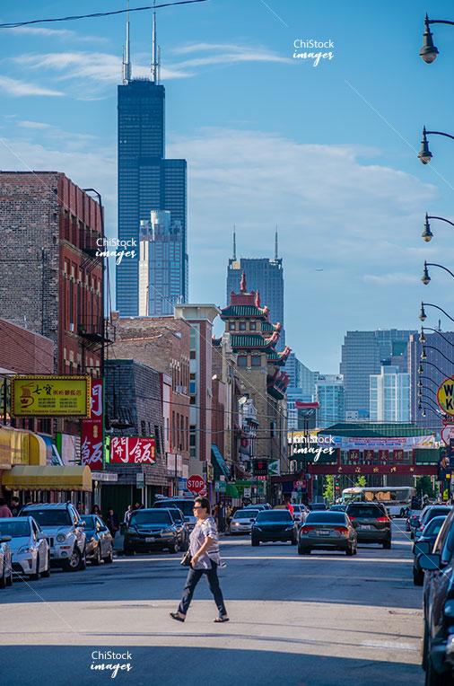Chicago's Chinatown Gateway South Wenthworth Avenue West Cermak Road Armour Square