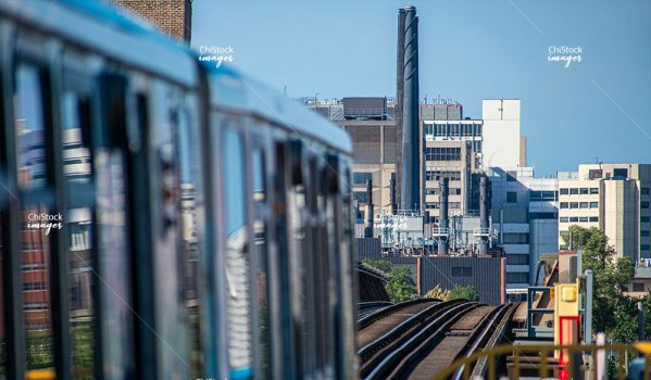 CTA Pink Line Lower West Side Chicago