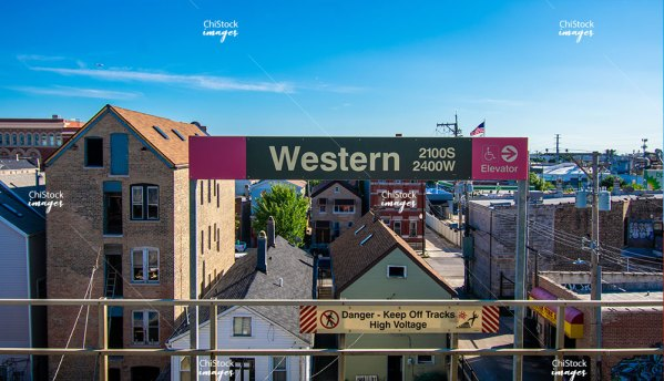 Western CTA Pink Line Lower West Side Chicago