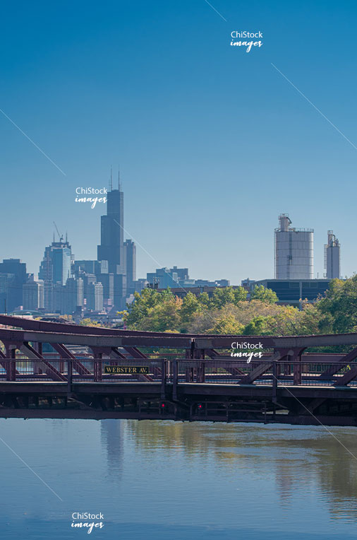 Webster Avenue Bridge over the North Branch Lincoln Park Chicago