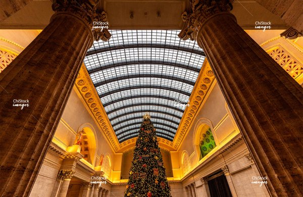Christmas Three at the Union Station Near West Side Chicago