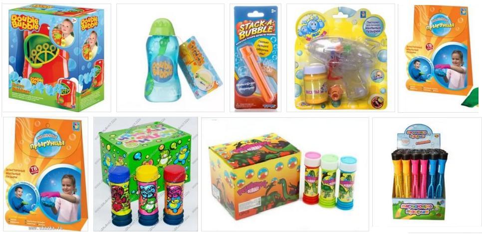 Soluzioni pronte per le bolle di sapone
