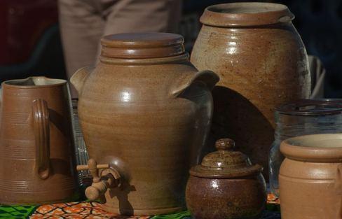 Pots Flea Market Pottery Jars Terracotta