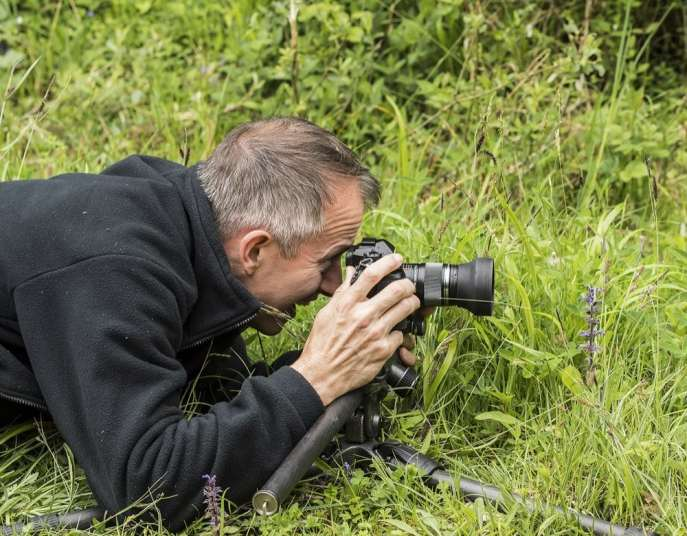 Andy Sands Wildlife photographer Andy Sands in his native habitat