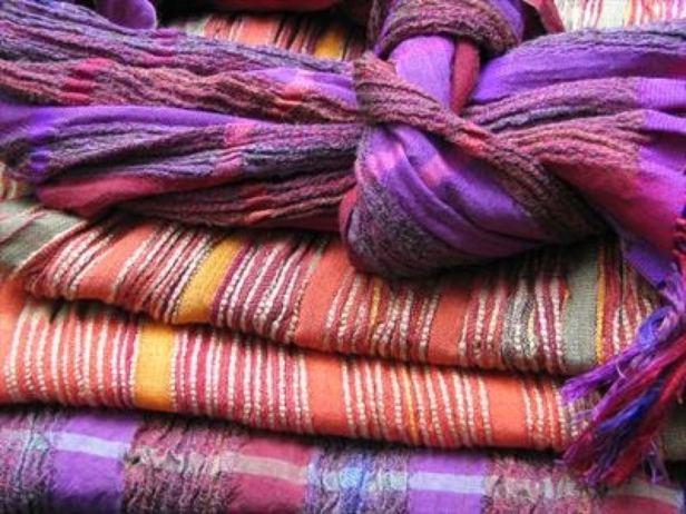 2015 Artists at Home Bobbie Kociejowski 1, New work, 4 handwoven silk wool scarves