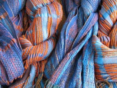 2015 Artists at Home Bobbie Kociejowski 2, New work, 4 Silk wool scarves
