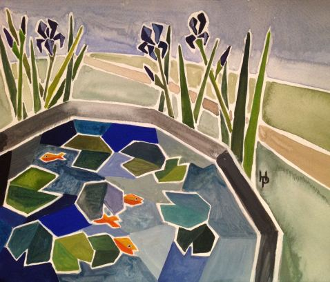2015 Artists at Home Henrietta Parsons 5, The Fish Pond