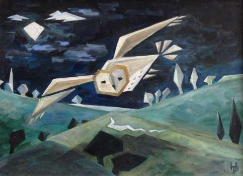 2016 Artists at Home Henrietta Parsons, Barn Owl Over Water Meadows