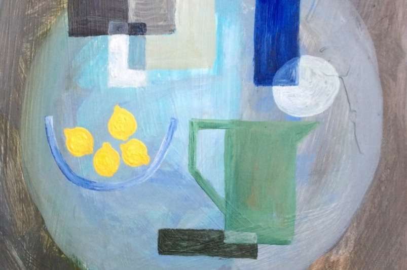 2016 Artists at Home Henrietta Parsons, Green Jug with Lemons (cropped)