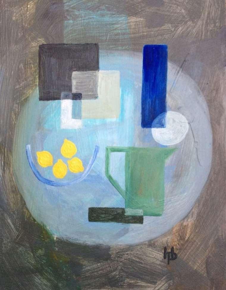 2016 Artists at Home Henrietta Parsons, Green Jug with Lemons