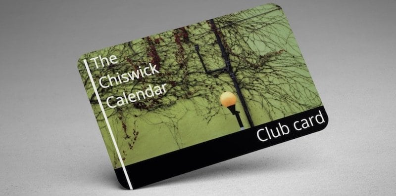 The Chiswick Calendar Club Card
