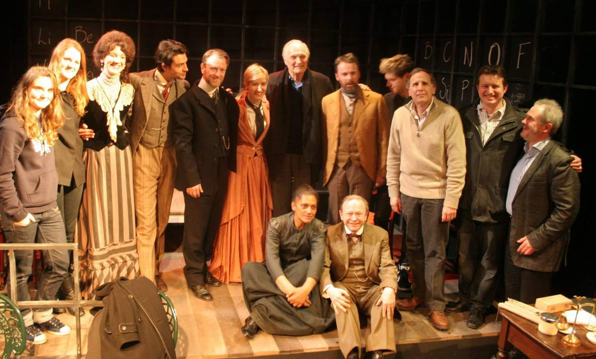 Cast of Radiance meeting Alan Alda - web