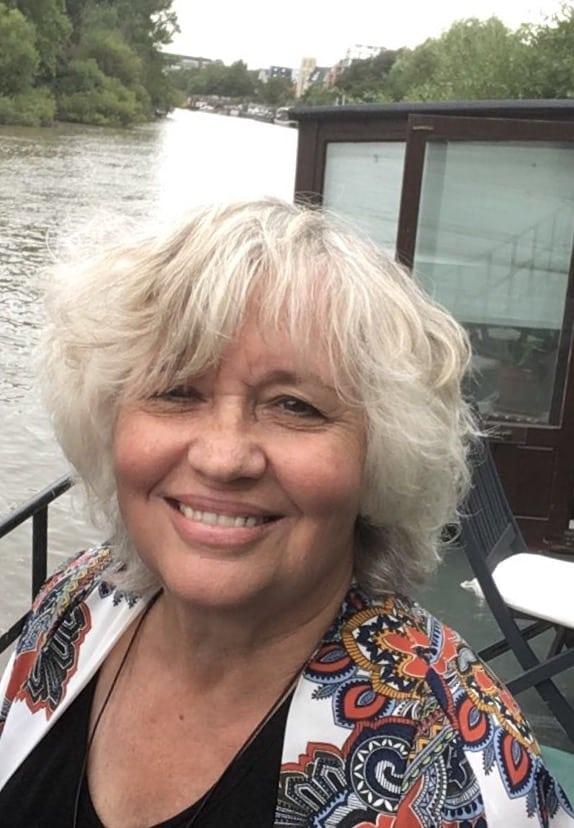 Susan Penhaligon aborad her boat