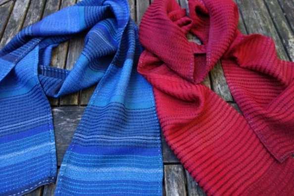 Two Silk and Wool Scarves by Bobbie Kociejowski