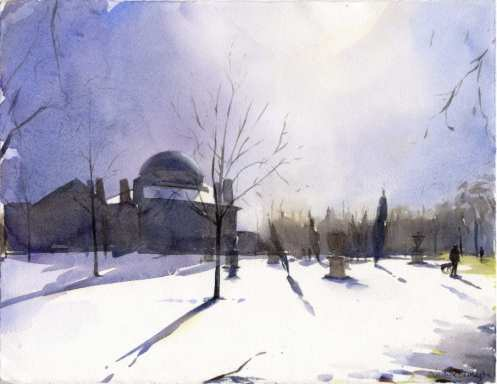 Chiswick House January by Christine Berrington