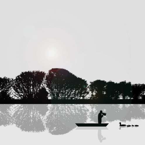 Rowing Coach 30x30cm by Rennie Pilgrem