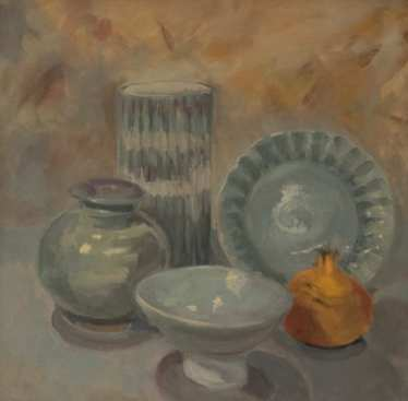 Still Life with Pots by Louise Kaye
