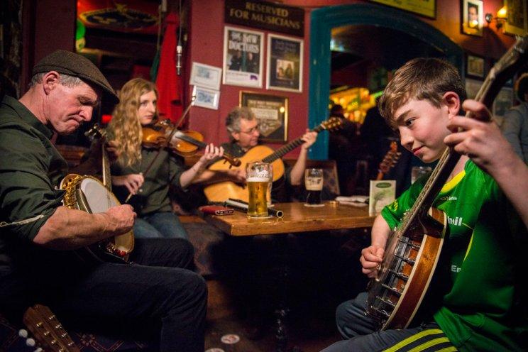 People playing Irish music