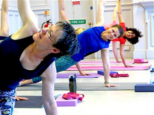 chiswick yoga ladies doing yoga poses