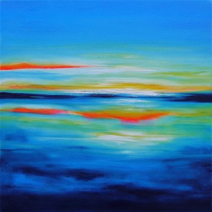 Julia Everett out of the blue painting