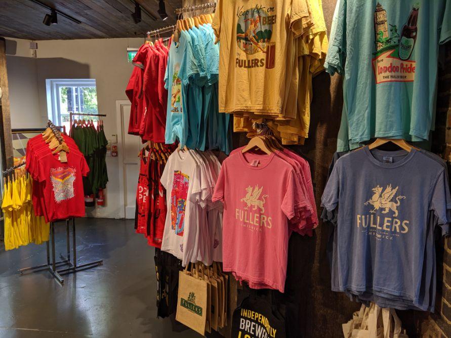 T shirts and sweatshirts hanging up