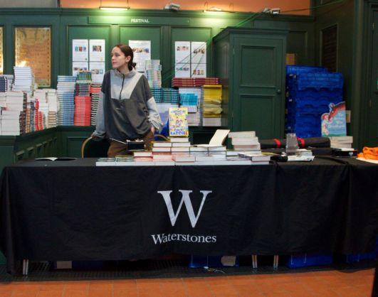 Waterstones book table