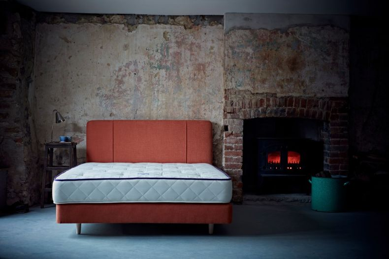 Carrick Bed (in burnt orange) by Naturalmat from £1,110 for Double-sized web