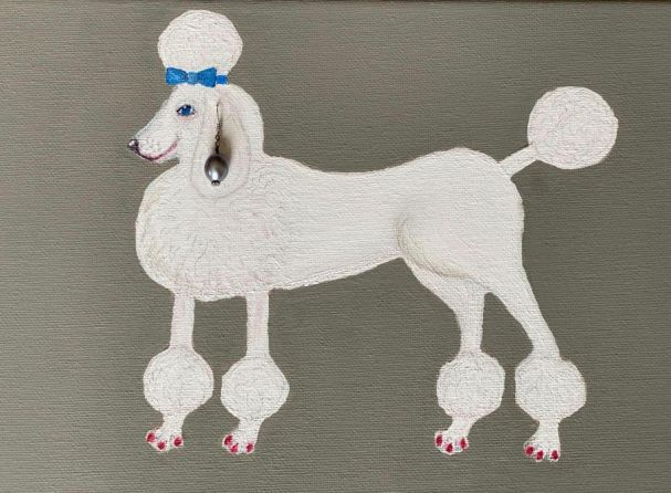 Ann Beckenham - Poodle with a Pearl Earring