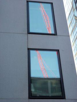 Built Environment - Kathryn Dargavel, Reflected cranes