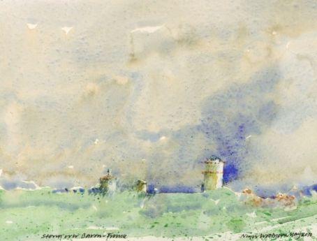 Nigel Woolner MBE - Storm over Baron, Languedoc, France