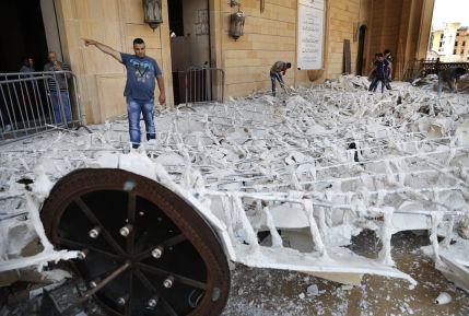 11 August damaged-beirut-mosque