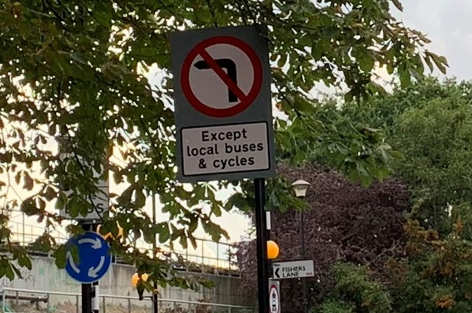 Traffic signs 4 - South Parade - Fishers Lane